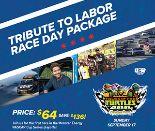 Tribute to Labor Race Day Package